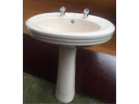 Basin sink and pedestal
