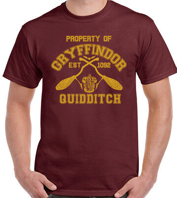 Property Of Gryffindor Mens Funny Harry Potter Inspired T-Shirt Quidditch