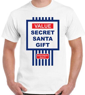 Secret Santa Gift T-Shirt Value Mens Funny Christmas Cheap Xmas Present Tesco ()