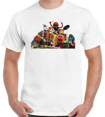 The Muppets Band - Animal ~ Mens Funny, Retro & Cool T-Shirt! Drums Drummer Drum