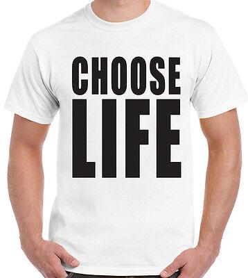 Hirsch Kostüm Shirt (Choose Life Herren T-Shirt George Michael Hirsch Do Kostüm Kleid Outfit 80's)
