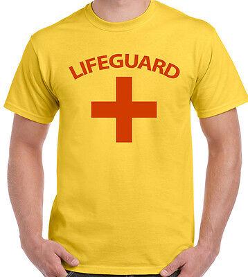 Herren Rettungsschwimmer T-Shirt Kostüm Kleid Outfit Lebensretter - Baywatch Kostüm Lebensretter