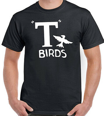 Hirsch Kostüm Shirt (T-Birds - Herren Lustige Fett T-Shirt Hirsch Do Retro Kostüm Outfit Hot Rod)