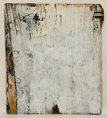 Original Abstract Reclaimed Wood Minimal Textured Painting By K.A.Davis