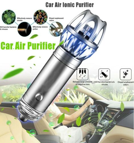 Premium Car Ionic Fresh Air Purifier Oxygen Bar Ozone Ionizer Cleaner US Seller!