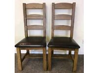 **£30** Oak High Back Chair with Leather Seats