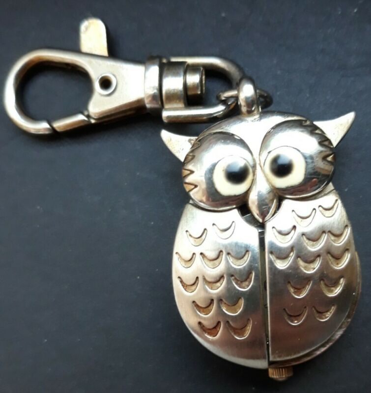 Adorable Owl Clip On Watch With Spreadable Wings New Battery Installed.