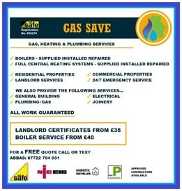 Gas Safe Engineer. Heating & Plumbing. Boilers , Landlord safety checks. services etc