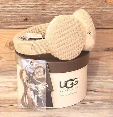 UGG Australia Great Jones Cardy Sheepskin Earmuff Camel Phone Speaker Headphones