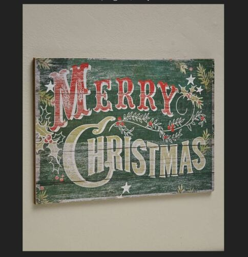 Farmhouse Merry Christmas Sign - Look of Wood Pallets - Rustic Country Decor