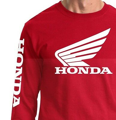 Honda Wing Long Sleeve T Shirt Jersey Hrc Motorcycle Racing Crf 250 450 Trx Cbr