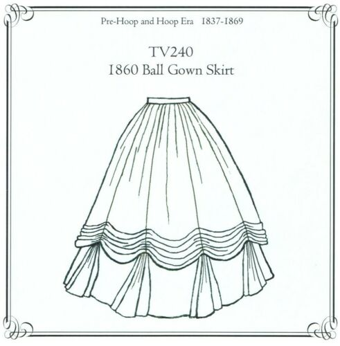 Sewing Pattern for 1860