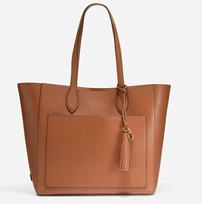 Cole Haan Piper Women's Pebble Leather Large Tote Bag Collection Brown NEW Pebble Leather Large Tote Bag