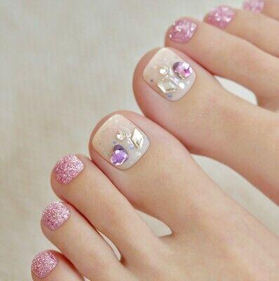 [Ohora] Gel Nail Pedicure Sticker art patch 32pcs P Heart-Beat UV Nail