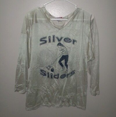 SILVER SLIDERS Bowsher broom hockey jersey Pappy small shirt #69 broomball Ohio - Broom Hockey