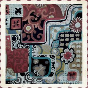 BonEful-Fabric-FQ-Cotton-Quilt-Black-Pink-VTG-Cowgirl-Butterfly-Dot-Flower-Leaf