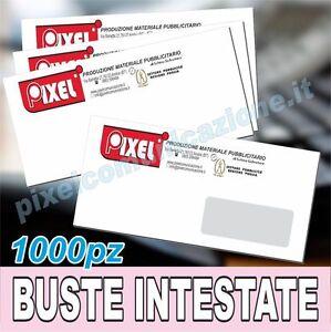 1000 buste lettera intestate a colori personalizzate 11x23 - Buste 11x23 senza finestra ...