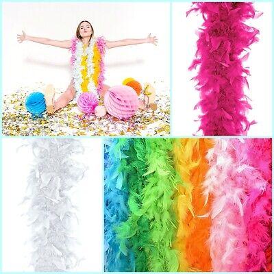 Boa Federboa 1,8 m viele Farben Federstola Feder Schal Kostüm Karneval Boa Schal