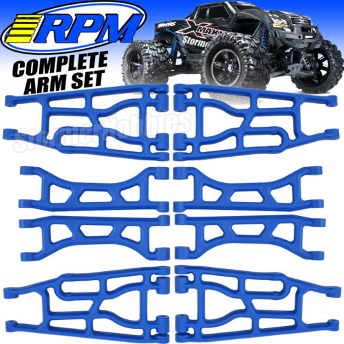 Traxxas X-Maxx BLUE RPM Suspension Arm set Front-Rear-Upper-Lower  PRIORITY MAIL