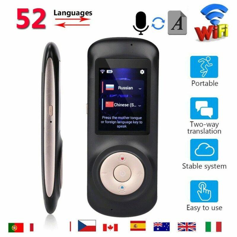 52 Languages Smart WIFI Instant Voice Translator Real-Time Speech Translation