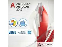 Autodesk AutoCAD 2018 / 2019 License and Educational video training bundle (PC & MAC)