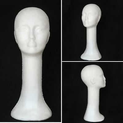 Styrofoam Long Neck Female Mannequin Head Model Wig Hat Glasses Display Stand US