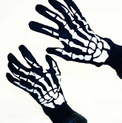 HAAC Skelett Handschuhe für Erwachsene für Halloween Fasching - Erwachsenen Skelett Handschuhe