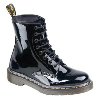 Dr. Martens Doc 1460 Boots Stiefel 8 Loch Lederstiefel 11821011 Schwarz Lack Neu ()