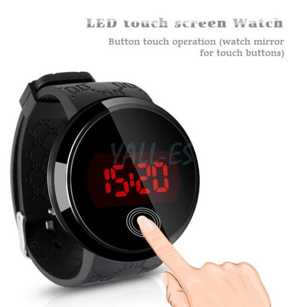 New Fashion Waterproof Men Led Touch Screen Day Date