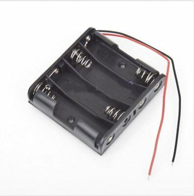 4 xAAA 6V Battery Holder Connector Storage Case Box ON/OFF Switch With Lead Wire