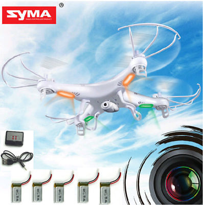 5 Batteries Syma X5C-1 RC Quadcopter Drone Explorers 6-Axis Gyro with HD Camera