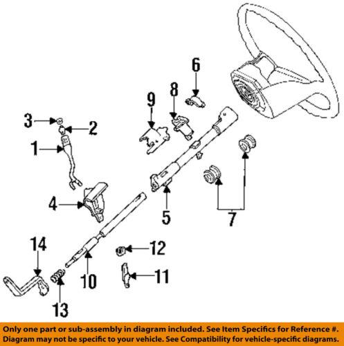 details about ford oem 92 97 f 250 steering column transmission shift lever f4tz7210b 1995 ford f-150 steering column parts 1999 f250 steering column diagram #10