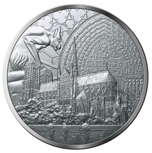NEW ! FRANCIA FRANCE MEDAL TO REBUILD NOTRE DAME DE PARIS CATHEDRAL 2019 @ RARE