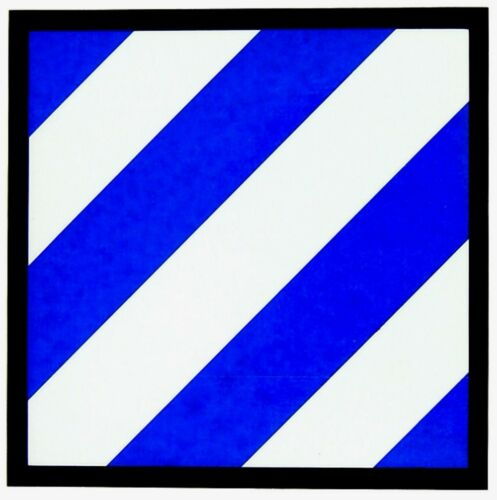 3rd Infantry Division Vinyl Sticker ( Adhesive on Front of Vinyl )