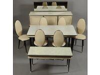 Vintage Retro 1960's Dining Room Suite, Sideboard & Coffee Table
