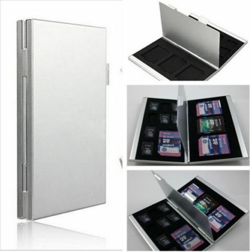 Aluminum Micro SD MMC TF Memory Card Storage Box Organizer Container Case HOTEST