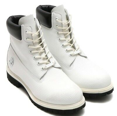 Timberland  6 Inch White Leather Premium Helcor Waterproof Boots Style A1GUY