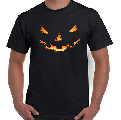 Pumpkin Smile Herren Lustige Halloween Kostüm T-Shirt Outfit Gespenstisch