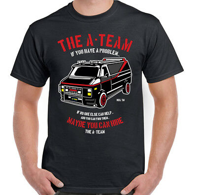 THE A-TEAM T-SHIRT Mens Van Funny 80's TV Program Show Mr-T Unisex Top