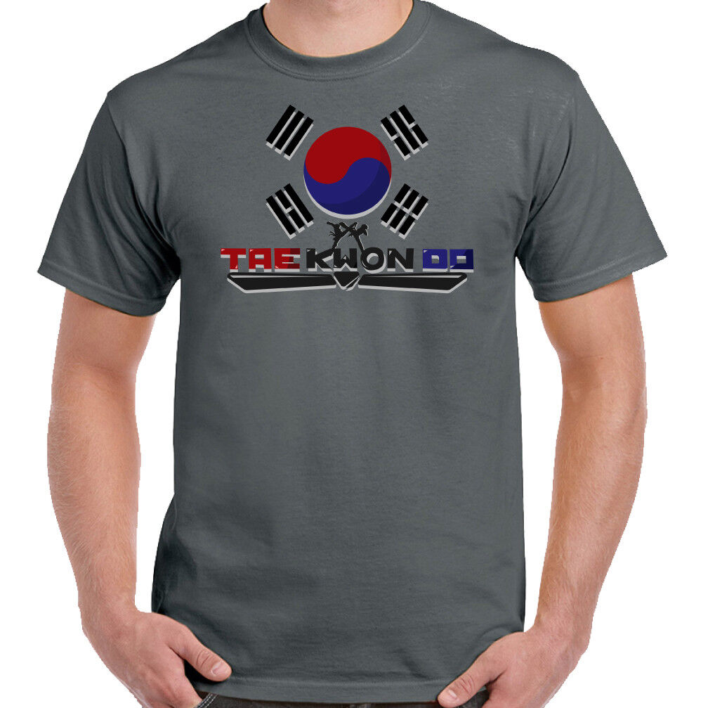 Taekwondo Mens T-Shirt Belt Suit Sparring Kick Pads Shoes Gi