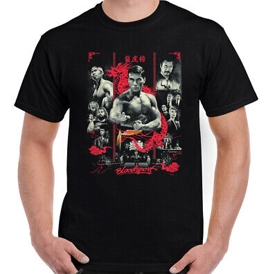 Bloodsport T-Shirt, Mens Martial Arts Jean Claude Van Damme Movie Top Frank Dux