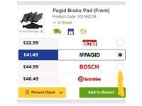 Pagid brake pads (front set) Various Ford- 101590218
