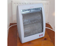 Halogen electric heater radiator