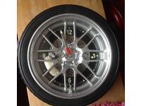 Steepletone tyre clock