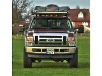 Ford F-250 super duty camper pickup truck 4x4 lhd Modified 6.4 v8 power stroke auto