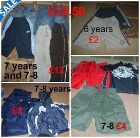 boys clothes 6 years, 6-7 and 7 years and 7-8 years,shorts, jeans and raincoats collect from Didcot