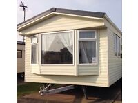 3 bedroom 8 berth static caravan with decking for hire on golden gate towyn north wales