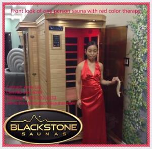 FREE neck massager with purchase of far infrared one person sauna, on sale $2299, was $2399