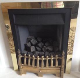 Brass fire grate and trim