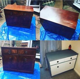 Up-cycled Wooden Cabinet with Drawers